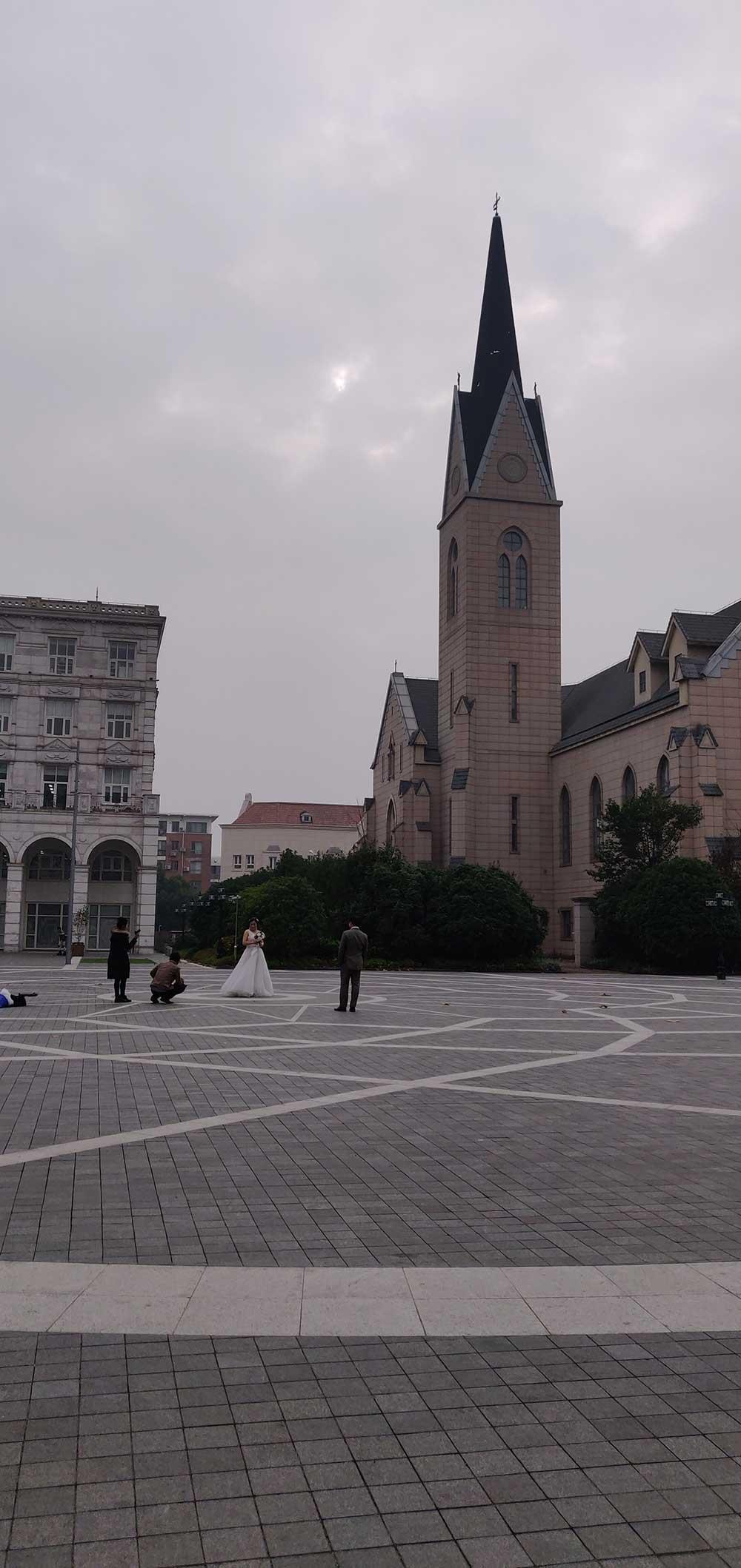 Nederlands kerkplein in Shanghai